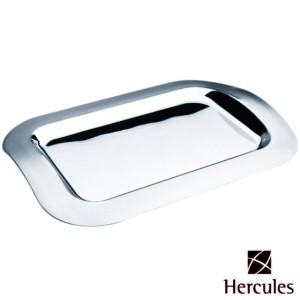 Bandeja Retangular Hercules 45x32cm de Aço Inox