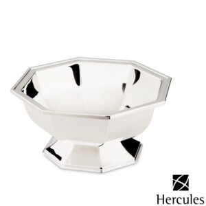 Bowl Oitavado de Prata Ibiza com Pés diam.22,5x10cm Hercules