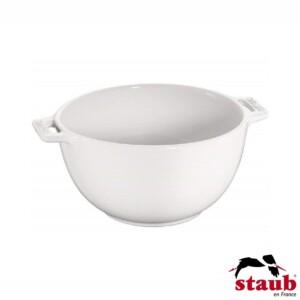 Bowl com Alças Staub Ceramic 18cm Branca