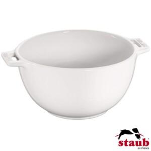 Bowl com Alças Staub Ceramic 25cm Branca