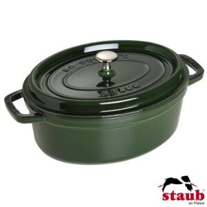 Caçarola Oval 23cm Verde Basil Staub La Cocotte de Ferro Fundido