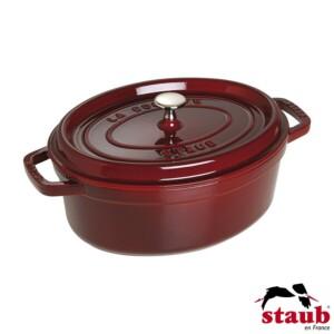 Caçarola Oval 27cm Vermelha Granada Staub La Cocotte de Ferro Fundido