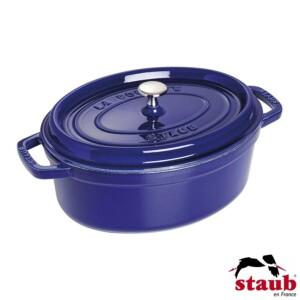 Caçarola Oval 33cm Azul Marinho Staub La Cocotte de Ferro Fundido