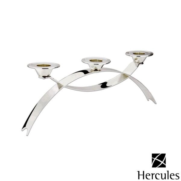 Candelabro para 3 Velas Hercules de Prata