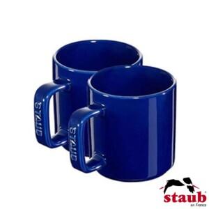 Cj. 2 Canecas Staub Ceramic 200ml Azul Marinho