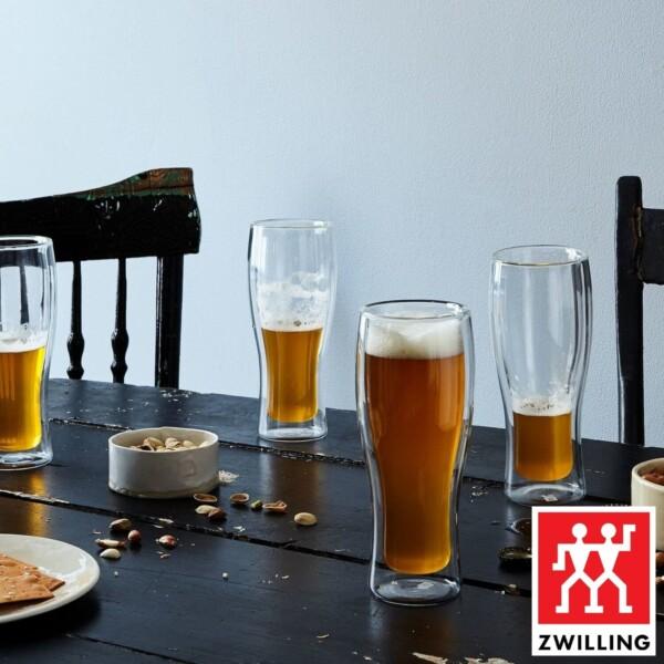 Cj. 2 Copos para Cerveja 414ml Parede Dupla Zwilling Sorrento de Vidro