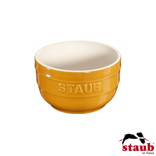 Cj. 2 Ramequim 8cm Mostarda Staub Ceramic
