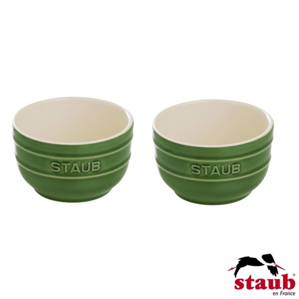 Cj. 2 Ramequim 8cm Verde Basil Staub Ceramic