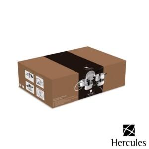 Cj. 5 Panelas Hercules de Aço Inox Fundo Triplo