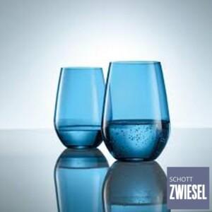 Cj. 6 Copos para Água e Suco 385ml Schott Zwiesel Vina Spots 385ml de Cristal Azul