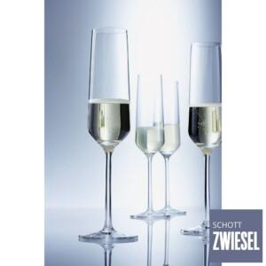 Cj. 6 Taças para Champagne (Flute) 215ml Schott Zwiesel Pure de Cristal