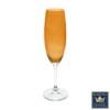 Cj. 6 Taças para Champagne (Flute) 220ml Anna Titanium Bohemia Crystal de Cristal Âmbar