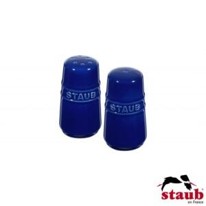 Cj. Mini Saleiro e Pimenteiro Staub Ceramic 7cm Azul Marinho