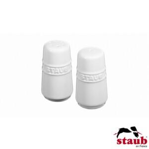 Cj. Mini Saleiro e Pimenteiro Staub Ceramic 7cm Branca