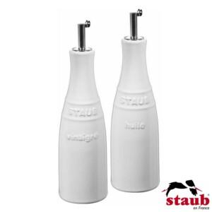 Cj. Óleo e Vinagre Staub Ceramic 250ml Branca