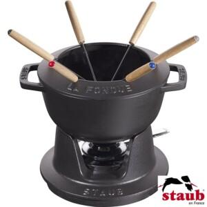 Cj. para Fondue Staub Specialties 18cm Preto de Ferro Fundido