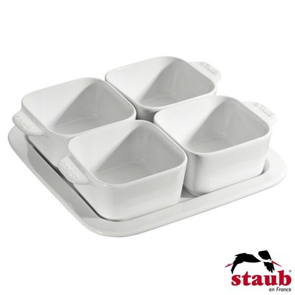 Cj. para Aperitivos Staub Ceramic Branca