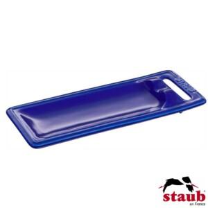 Descanso para Colher Staub Ceramic 25x10cm Azul Marinho