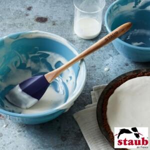 Espátula Staub Olive 25cm de Silicone Azul Marinho
