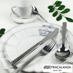 Faqueiro Bellagion Fracalanza 24 Peças de Aço Inox Caixa Black Lux