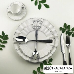Faqueiro Sorrento Fracalanza 24 Peças Caixa Black Lux