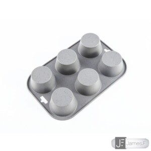 Fôrma para Cupcake 6 Cavidades James.F de Silicone Cinza
