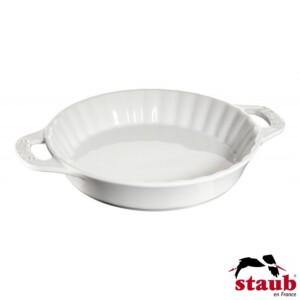 Fôrma para Torta 28cm Branca Staub Ceramic