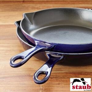 Frigideira 30cm Azul Marinho Staub Grill Pans de Ferro Fundido