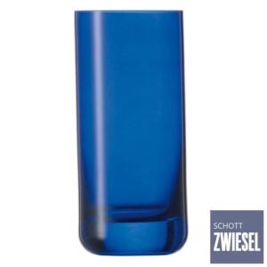 Cj. 6 Copos Altos 320ml Schott Zwiesel Spots de Cristal Azul Cobalto