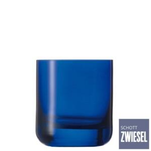 Cj. 6 Copos Baixos 285ml Schott Zwiesel Spots de Cristal Azul Cobalto
