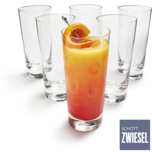 Cj. 6 Copos Longdrink 366ml Schott Zwiesel Basic Bar Selection de Cristal