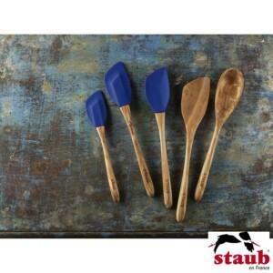 Kit com 5 Utensílios Staub Olive Azul Marinho
