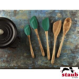 Kit com 5 Utensílios Staub Olive Verde Basil