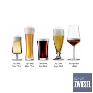 Kit Degustação 5 Copos para Cerveja Schott Zwiesel Beer Tasting de Cristal