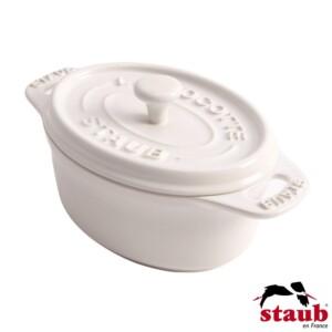 Mini Caçarola Oval 11cm Branca Staub Ceramic