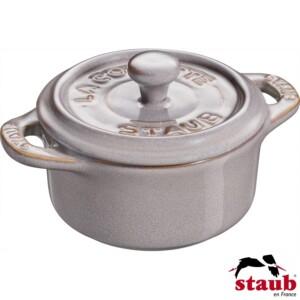 Mini Caçarola Redonda 10cm Cinza Anciant Staub Ceramic