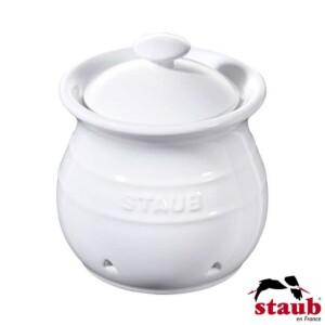 Porta Alho Staub Ceramic 500ml Branca