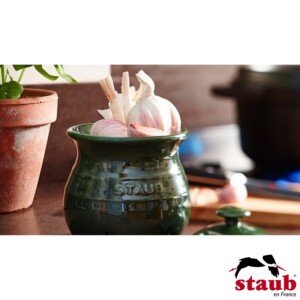 Porta Alho Staub Ceramic 500ml Verde Basil