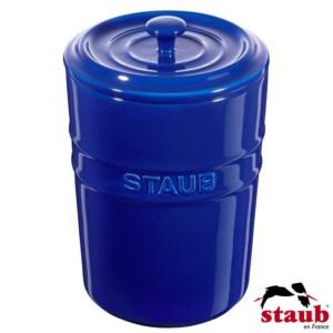 Porta Mantimento Staub Ceramic 1000ml Azul Marinho