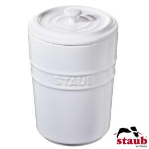 Porta Mantimento Staub Ceramic 1000ml Branca