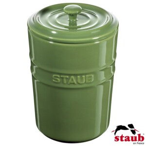Porta Mantimento Staub Ceramic 1000ml Verde Basil