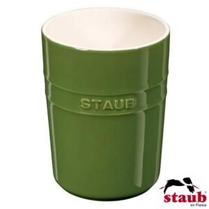 Porta Utensílios Verde Basil Staub Ceramic 11cm