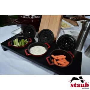 Suporte de Madeira para 3 Mini Caçarolas 10cm Staub Accessories Preto