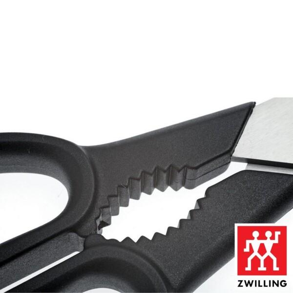 Tesoura Multiuso Twin L Zwilling 205mm de Aço Inox Preta