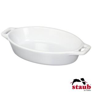 Travessa Oval 17cm Branca Staub Ceramic