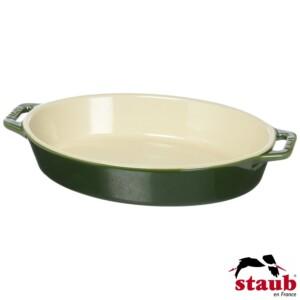 Travessa Oval 23cm Verde Basil Staub Ceramic
