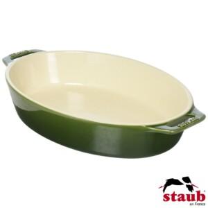 Travessa Oval 29cm Verde Basil Staub Ceramic
