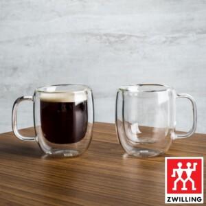 Cj. 2 Canecas para Espresso 80ml Parede Dupla Zwilling Sorrento