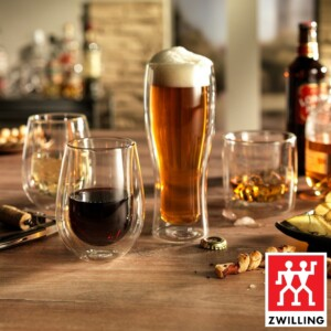 Cj. 2 Copos para Cerveja 414ml Parede Dupla Zwilling Sorrento