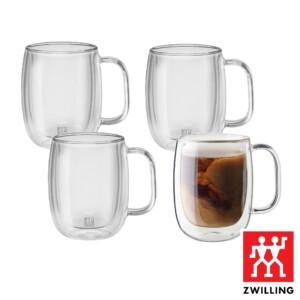 Cj. 4 Canecas para Café 355ml Parede Dupla Zwilling Sorrento